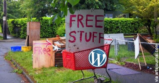 Free WordPress Stuff as Content Marketing