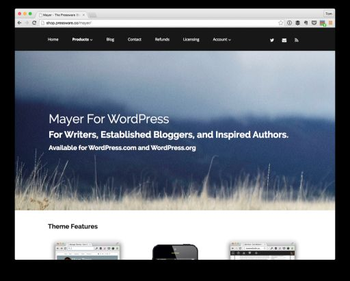 Mayer for WordPress Sales Page