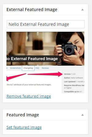 WordPress Image Handling vs Nelio External Featured Image