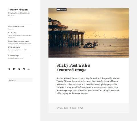 The Twenty Fifteen WordPress Theme