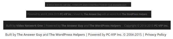 The WordPress Footer