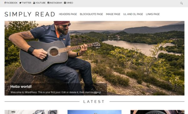 The WordPress Simply Read Theme Makes Reading Simple