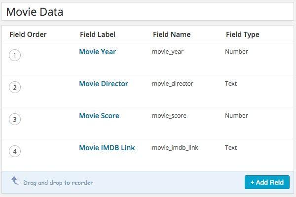 WordPress Database Fields