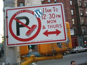The WordPress No-Parking Zone